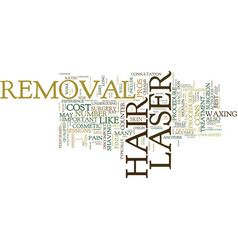 Laser hair removal the pros and cons text vector
