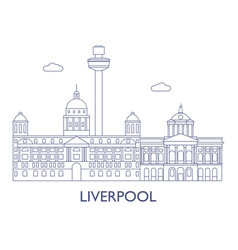 liverpool vector image vector image