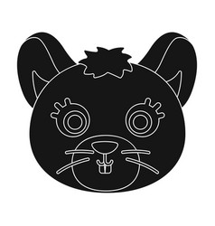 Mouse muzzle icon in black style isolated on white vector
