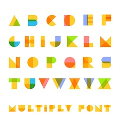 Multiply geometric elements letters Design vector image