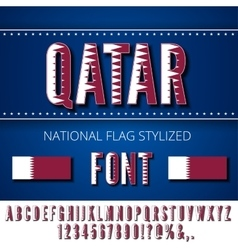 National Flag Font vector image vector image