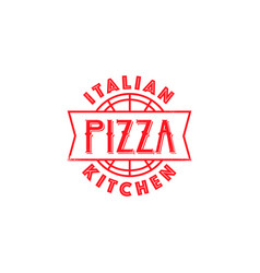 pizza restaurant classic logo design vector image