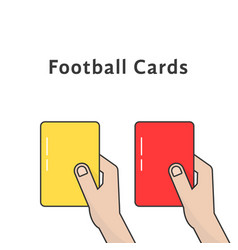 red and yellow football cards vector image vector image