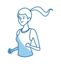 runner girl training athletic design graphic vector image