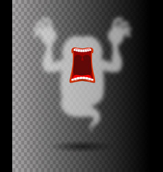 Scary ghost phasing transparent monster with an vector