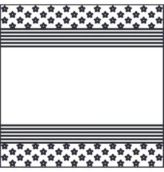Silhouette usa flag frame design vector