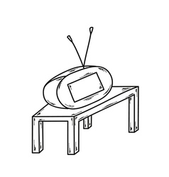sketch of the small TV vector image vector image