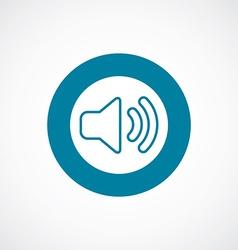 Sound icon bold blue circle border vector