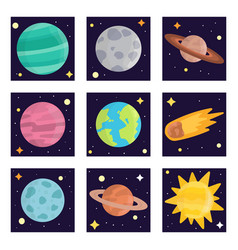 space landing planets solar system future vector image