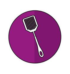 Spatula kitchen cutlery isolated icon vector