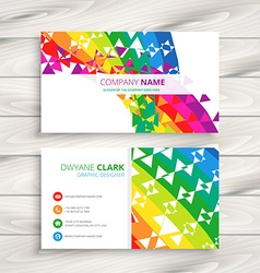 Abstract colorful business card vector