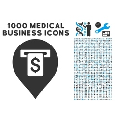 Cash machine pointer icon with 1000 medical vector