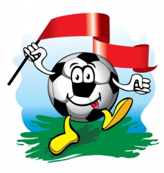 soccer ball with flag  vector image