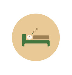 stylish icon in color circle man sleeps vector image