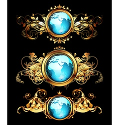 World frames set vector