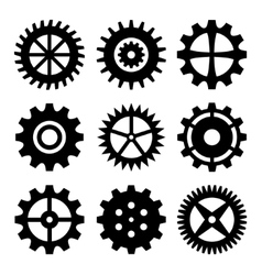 Gear wheels isolated on white background vector