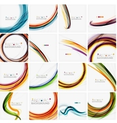 Set of abstract backgrounds circles swirls and vector
