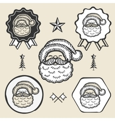 Santa claus symbol emblem label collection vector