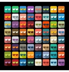 Flat design sunglasses vector