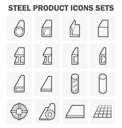 Steel structure pipe icon vector