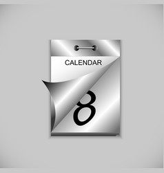 tear-off calendar vector image
