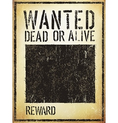 Wanted vintage western poster aged template vector