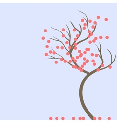 Lonely tree vector