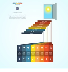 Infographic template steps 8 vector