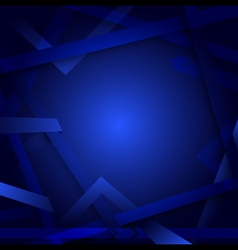 Abstract lines geometric blue background vector
