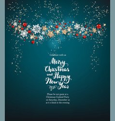 blue christmas holiday card vector image vector image