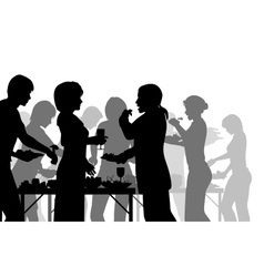 Buffet meal vector image vector image