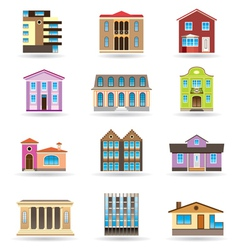 Buildings and houses vector image vector image