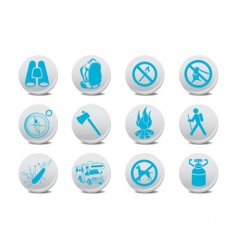 camping buttons vector image