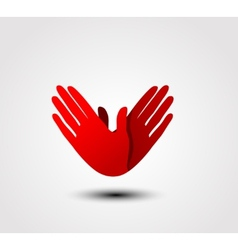 Caring hand icon vector image