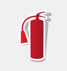 Fire extinguisher sign new year reddish vector