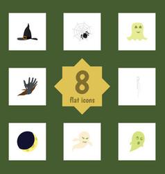 Flat icon celebrate set of phantom ghost spinner vector