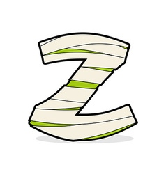 Letter z egyptian zombies mummy abc icon coiled vector