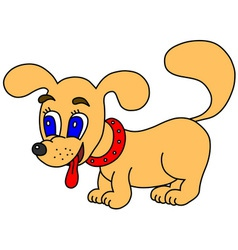 Little dog vector image