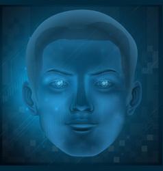 Male face vector