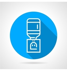 Office water dispenser blue round icon vector image