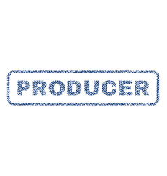 Producer textile stamp vector
