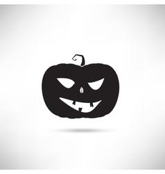 Pumpkin black silhouette vector