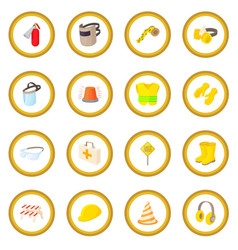 safety icon circle vector image