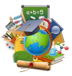 School concept with globe vector