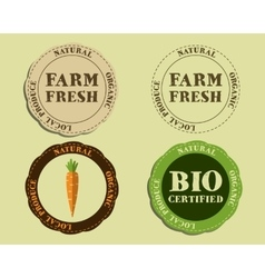 Stylish farm fresh logo and badge templates with vector