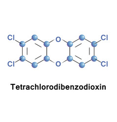 tetrachlorodibenzo p dioxin herbicide vector image
