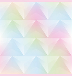 watercolor triangle seamless pattern vector image vector image