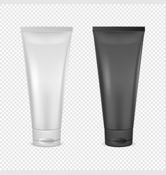 White and black cream tube icon set design vector