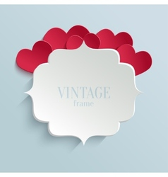 White paper banner in vintage or retro style vector image vector image