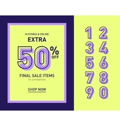 Clean trendy sale banner template flat vector